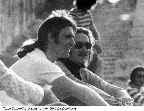 Fabio Sargentini (a sinistra) con Gino De Dominicis