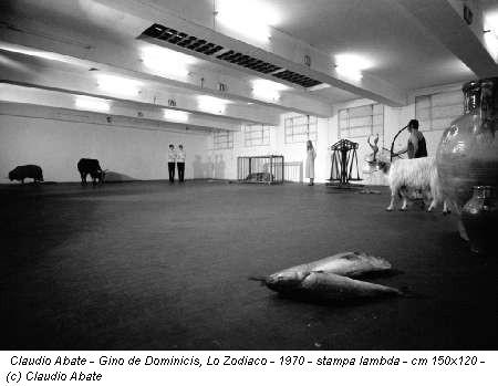 Claudio Abate - Gino de Dominicis, Lo Zodiaco - 1970 - stampa lambda - cm 150x120 - (c) Claudio Abate