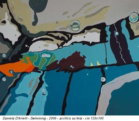 Daniela D'Arielli - Swimming - 2006 - acrilico su tela - cm 120x100