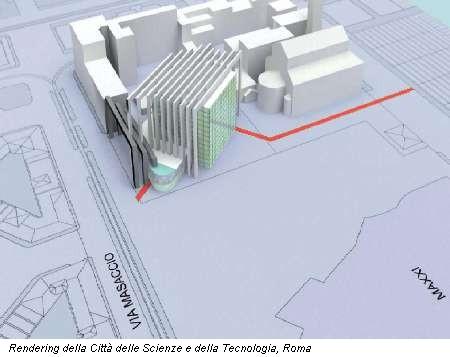 Rendering della Città delle Scienze e della Tecnologia, Roma