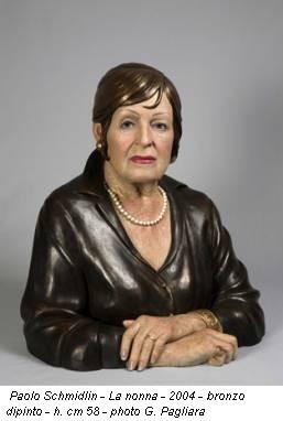 Paolo Schmidlin - La nonna - 2004 - bronzo dipinto - h. cm 58 - photo G. Pagliara