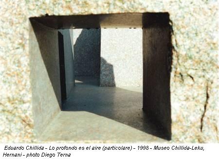 Eduardo Chillida - Lo profondo es el aire (particolare) - 1998 - Museo Chillida-Leku, Hernani - photo Diego Terna