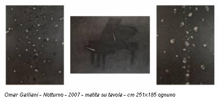 Omar Galliani - Notturno - 2007 - matita su tavola - cm 251x185 ognuno