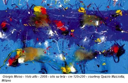 Giorgio Moiso - Volo alto - 2008 - olio su tela - cm 120x200 - courtesy Spazio Mazzotta, Milano