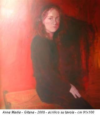 Anna Madia - Gitana - 2008 - acrilico su tavola - cm 91x100