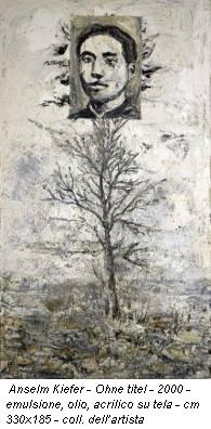 Anselm Kiefer - Ohne titel - 2000 - emulsione, olio, acrilico su tela - cm 330x185 - coll. dell'artista