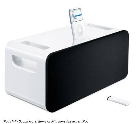 iPod Hi-Fi Boombox, sistema di diffusione Apple per iPod