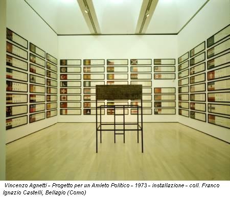 Vincenzo Agnetti - Progetto per un Amleto Politico - 1973 - installazione - coll. Franco Ignazio Castelli, Bellagio (Como)