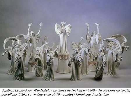 Agathon Léonard van Weydenfeld - La danse de l'écharpe - 1900 - decorazione da tavola, porcellana di Sèvres - h. figure cm 40-50 - courtesy Hermitage, Amsterdam