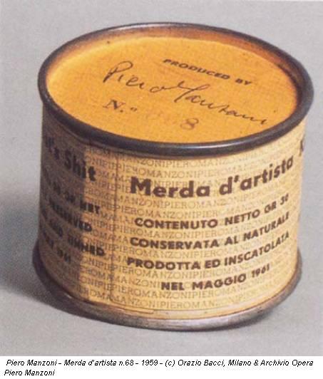 Piero Manzoni - Merda d'artista n.68 - 1959 - (c) Orazio Bacci, Milano & Archivio Opera Piero Manzoni