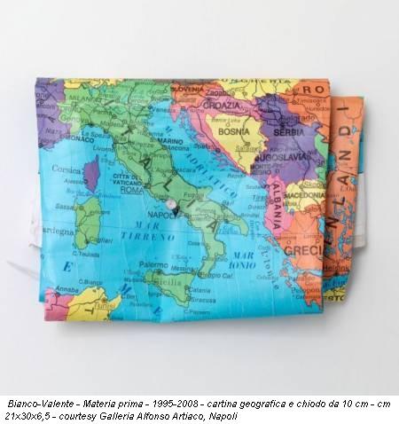 Bianco-Valente - Materia prima - 1995-2008 - cartina geografica e chiodo da 10 cm - cm 21x30x6,5 - courtesy Galleria Alfonso Artiaco, Napoli