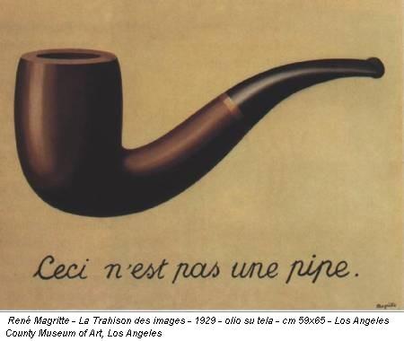 René Magritte - La Trahison des images - 1929 - olio su tela - cm 59x65 - Los Angeles County Museum of Art, Los Angeles