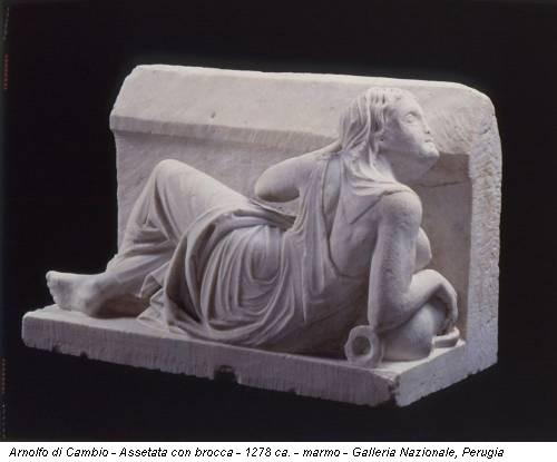 Arnolfo di Cambio - Assetata con brocca - 1278 ca. - marmo - Galleria Nazionale, Perugia
