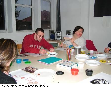 Il laboratorio: le riproduzioni pittoriche
