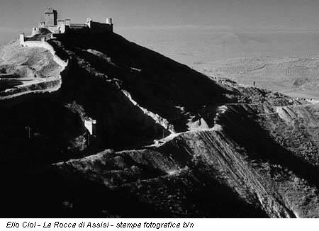 Elio Ciol - La Rocca di Assisi - stampa fotografica b/n