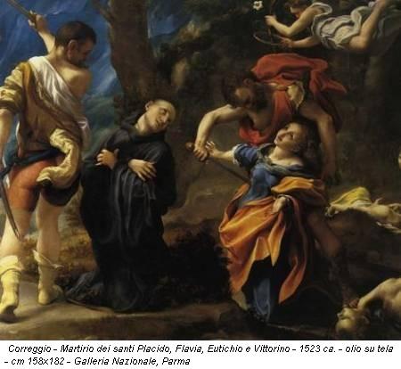 Correggio - Martirio dei santi Placido, Flavia, Eutichio e Vittorino - 1523 ca. - olio su tela - cm 158x182 - Galleria Nazionale, Parma