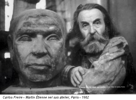 Carlos Freire - Martin Étienne nel suo atelier, Paris - 1982