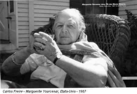 Carlos Freire - Marguerite Yourcenar, Etats-Unis - 1987