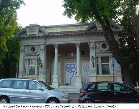 Michael De Feo - Flowers - 2008 - wall painting - Palazzina Liberty, Trento