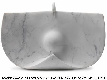 Costantino Nivola - La madre sarda e la speranza del figlio meraviglioso - 1986 - marmo