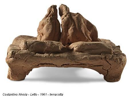 Costantino Nivola - Letto - 1961 - terracotta