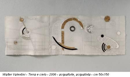 Walter Valentini - Terra e cielo - 2006 - acquaforte, acquatinta - cm 50x150