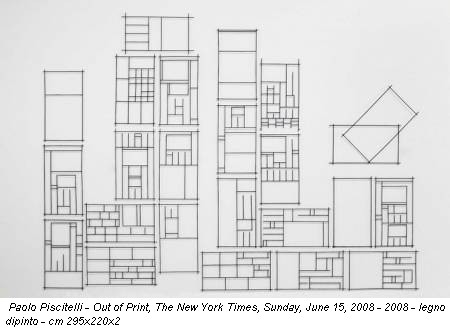 Paolo Piscitelli - Out of Print, The New York Times, Sunday, June 15, 2008 - 2008 - legno dipinto - cm 295x220x2