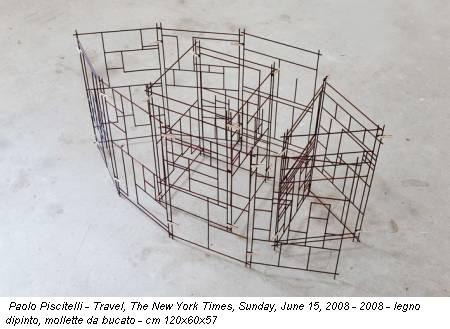 Paolo Piscitelli - Travel, The New York Times, Sunday, June 15, 2008 - 2008 - legno dipinto, mollette da bucato - cm 120x60x57