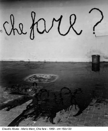 Claudio Abate - Mario Merz, Che fare - 1969 - cm 150x120