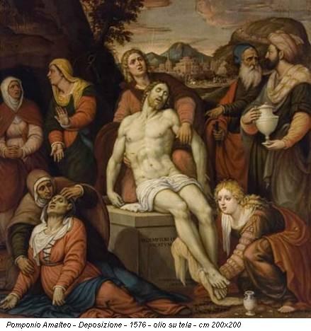 Pomponio Amalteo - Deposizione - 1576 - olio su tela - cm 200x200