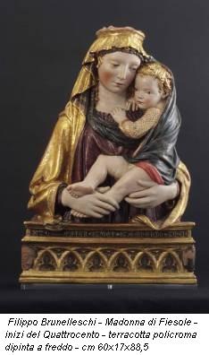 Filippo Brunelleschi - Madonna di Fiesole - inizi del Quattrocento - terracotta policroma dipinta a freddo - cm 60x17x88,5