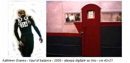 Kathleen Graves - Vaul of balance - 2008 - stampa digitale su lino - cm 42x21