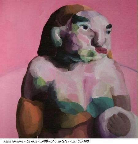 Marta Sesana - La diva - 2008 - olio su tela - cm 100x100