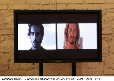 Damiano Bertoli - Continuous moment: I'm Ok, you are Ok - 2006 - video - 3'45''