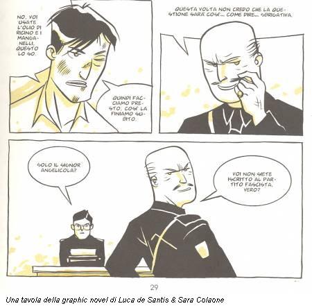 Una tavola della graphic novel di Luca de Santis & Sara Colaone