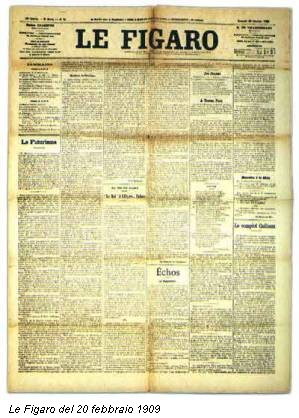 Le Figaro del 20 febbraio 1909