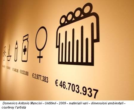 Domenico Antonio Mancini - Untitled - 2009 - materiali vari - dimensioni ambientali - courtesy l'artista