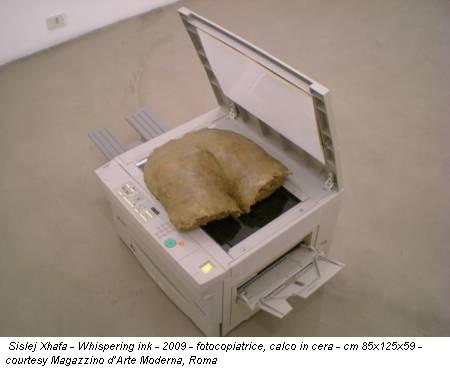 Sislej Xhafa - Whispering ink - 2009 - fotocopiatrice, calco in cera - cm 85x125x59 - courtesy Magazzino d'Arte Moderna, Roma