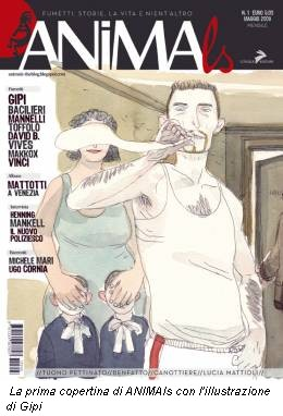La prima copertina di ANIMAls con l'illustrazione di Gipi
