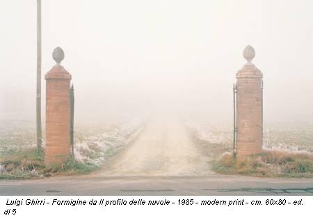 Luigi Ghirri - Formigine da Il profilo delle nuvole - 1985 - modern print - cm. 60x80 - ed. di 5