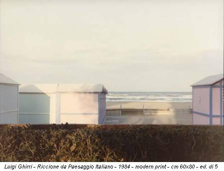 Luigi Ghirri - Riccione da Paesaggio Italiano - 1984 - modern print - cm 60x80 - ed. di 5