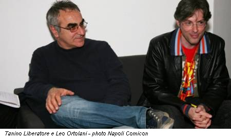 Tanino Liberatore e Leo Ortolani - photo Napoli Comicon