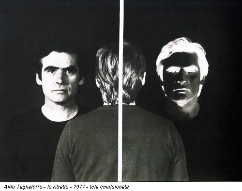 Aldo Tagliaferro - Io ritratto - 1977 - tela emulsionata