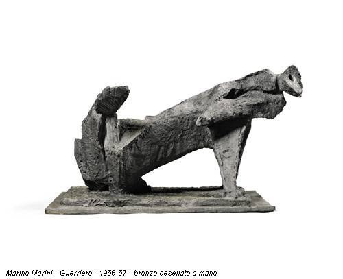 Marino Marini - Guerriero - 1956-57 - bronzo cesellato a mano
