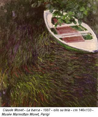 Claude Monet - La barca - 1887 - olio su tela - cm 146x133 - Musée Marmottan Monet, Parigi
