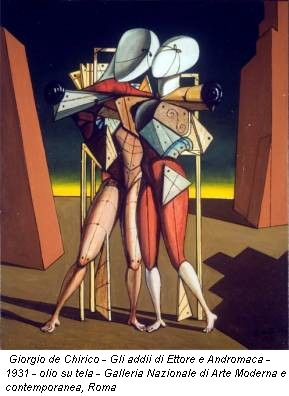 Giorgio de Chirico - Gli addii di Ettore e Andromaca - 1931 - olio su tela - Galleria Nazionale di Arte Moderna e contemporanea, Roma