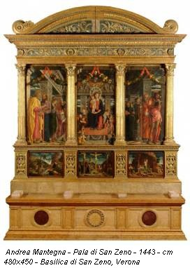 Andrea Mantegna - Pala di San Zeno - 1443 - cm 480x450 - Basilica di San Zeno, Verona