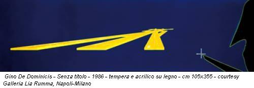 Gino De Dominicis - Senza titolo - 1986 - tempera e acrilico su legno - cm 105x355 - courtesy Galleria Lia Rumma, Napoli-Milano
