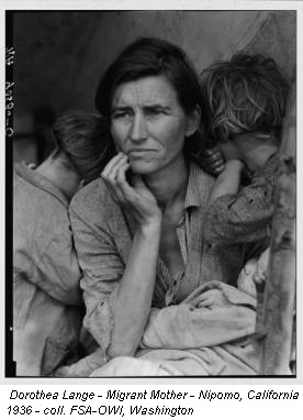 Dorothea Lange - Migrant Mother - Nipomo, California 1936 - coll. FSA-OWI, Washington