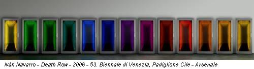 Iván Navarro - Death Row - 2006 - 53. Biennale di Venezia, Padiglione Cile - Arsenale